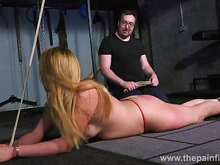 Kinky pervert punishes pussy be incumbent on team a few doomed up bitch in the dark basement