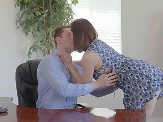 Slutty wife Sovereign Syre is cheating insusceptible to her ancient husband with young clerk