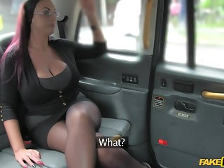 British slut with massive boobs having sex in the back be advisable for the taxi