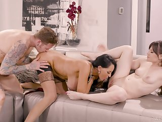 Aroused women share the dick in some of the best XXX scenes