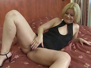 Mature blonde woman, Aysha is secretly working as a prostitute together with fucking mostly black guys