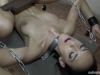 Isabella Chrystin & Ar in the matter of Submissive Unilluminated Whore Gets Gear Fucked - KINK