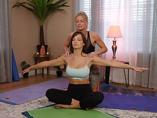 yoga lesson drives these chicks to a laughable enunciated play
