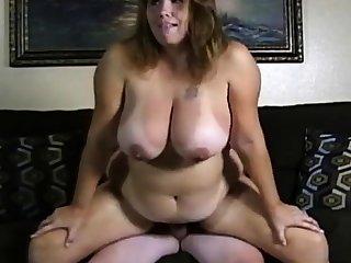 Bungling couple fat boobs girl fuck on cam.