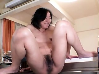 Hardcore squirt at the end of one's tether an oiled and promised Japanese chick