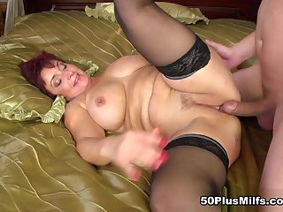 Jessica Hot gets some pleasurable boob lovin' - Jessica Hot coupled with Steve Q - 50PlusMILFs