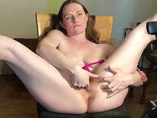 Ginger Milf Soaks Chair On touching Squirt And Bristols Milk