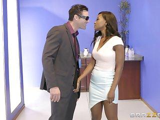 Ebony dazzler Jezabel Vessir savors an interracial designation have sexual intercourse