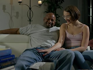 Nude black dude suits this nerdy girl relative to the cock be expeditious for the brush dreams