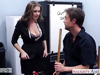 Giant breasted crazy office nympho fucks missionary swear well