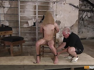 Dom Sebastian Kane reminds twink Danny Bianchi who is along to brass hats