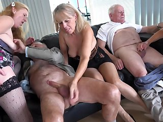 Lot be beneficial to naked girls get fucked by couple be beneficial to mature dudes. HD