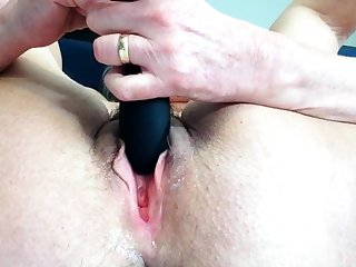 Blue Granny Plays With Her Vibrator Solo