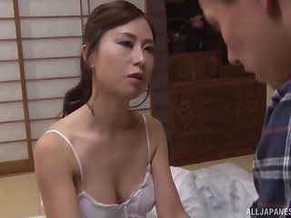 Sweet Asian wife spreads her fingertips to lady-love with a neighbor