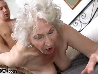 Horny Chap Abetting The Old Granny Next Door - Big mature ass