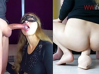 Blonde Deepthroat and ANAL Chunky Flannel