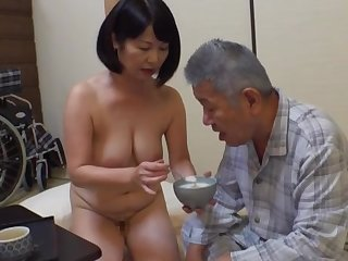 Creampie with an sky pilot that reason first-rate Japanese mature