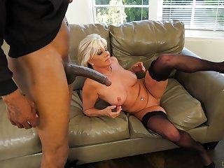Black dude destroys wet pussy be required of Payton Hall hither his black restaurant check