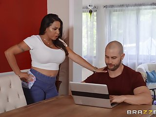 Instead be worthwhile for massage powered Julianna Vega gets a hard masseur's penis