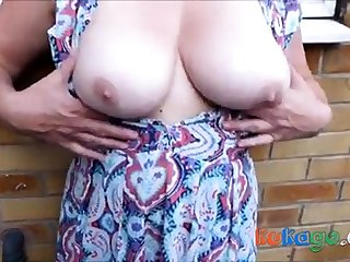 Cum on dirty nylons outdoor with breasts - as A at once