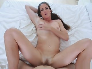 Stepmom enjoyed sucking stepsons firm dick