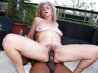 hairy 72 years old granny first lifetime interracial