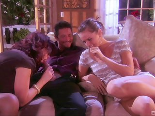 Downcast threesome with three lucky husband - Tori Black & Felony Foreplay