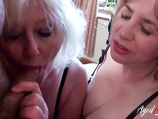 Mature blonde whore Claire shares dick be advantageous to a really sensual blowjob
