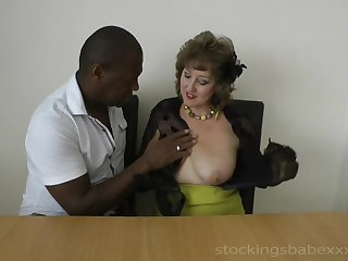 Pizazz old-fashioned lady hard porn video