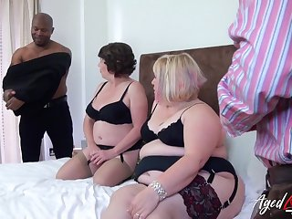 Group trash porn pellicle featuring twosome chunky aged housewives anent sexy outfits